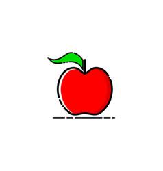 fruit apple mbe style logo vector image