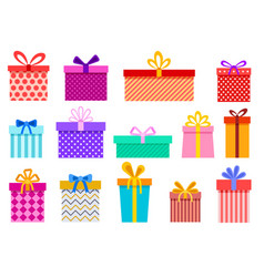 gift boxes christmas present wrapped packages vector image