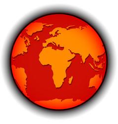 Global warming globe vector