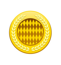 golden premium circular badge symbol logo design vector image