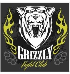Grizzly bear head - emblem vector image