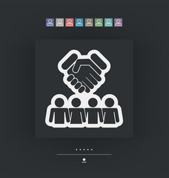 group agreement icon vector image