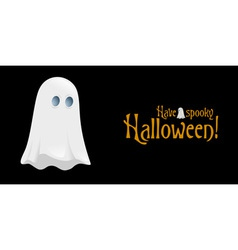 Halloween Poster with Ghost vector