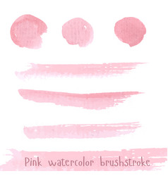 hand drawn pink paint brushstroke watercolor vector image