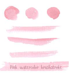 Hand drawn pink paint brushstroke watercolor vector