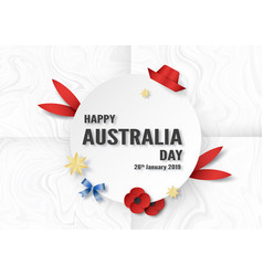 happy australia day on 26 january template design vector image