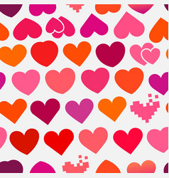 heart symbols seamless background vector image