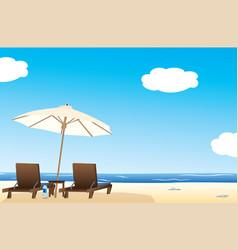 Idyllic beach vector
