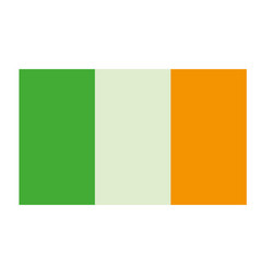 ireland flag cartoon vector image