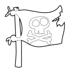 jolly roger icon outline vector image