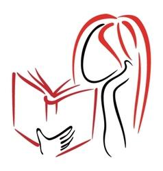 Library symbol vector image