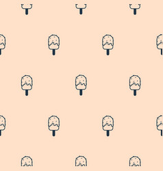 light pink simple icon ice cream seamless pattern vector image vector image
