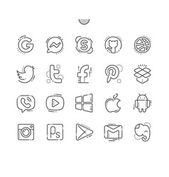 Logos well-crafted pixel perfect thin line vector
