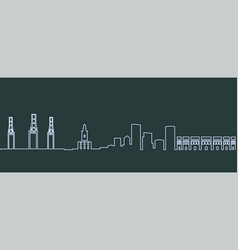 malaga single line skyline vector image