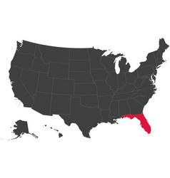 Map of usa - florida vector