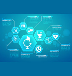 medical blue background poster vector image