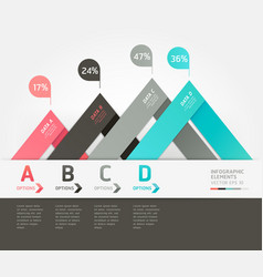 Modern infographics origami style vector