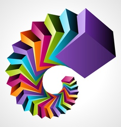 modern spiral background vector image