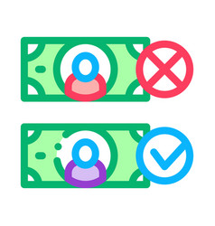 money currency comparisons icon outline vector image
