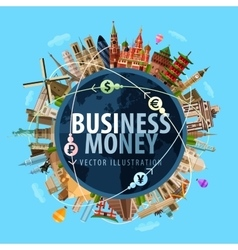 money logo design template banking or vector image