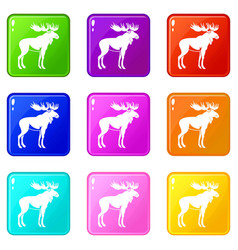 Moose set 9 vector