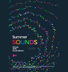 music wave poster design summer sounds flyer vector image