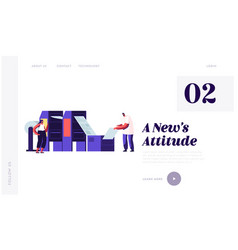 Newspaper production process in typography website vector