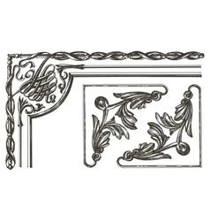 Ornament logo design template frame vector