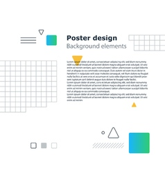 Poster design template geometric shapes gradient vector image