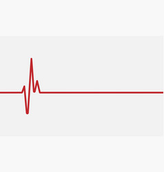 Red heartbeat line icon vector