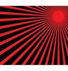 red sun vector image