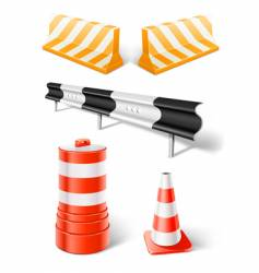 road repair or construction objects vector image