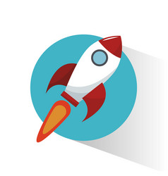 rocket start marketing concept vector image