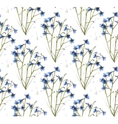 Romantic Wild Flowers Seamless Pattern vector