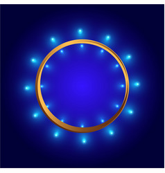 Round frame shining circle banner for web and vector