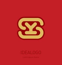 s and y initial logo sy - design element or icon vector image