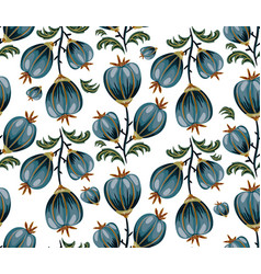 seamless floral background with blue flowers vector image