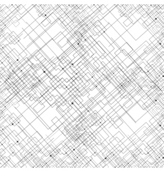 Seamless pattern with connected lines and dots vector