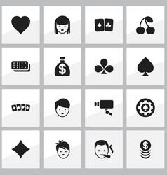 set of 16 editable excitement icons includes vector image