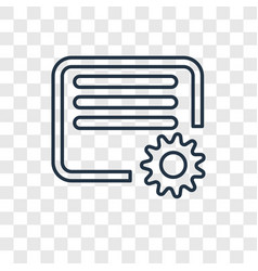 Settings concept linear icon isolated on vector