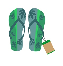 Slippers with tag vector