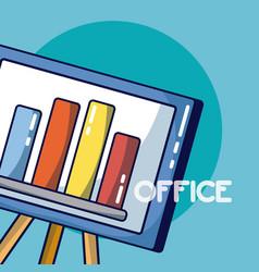Statistics bars office element vector