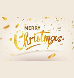 stock merry christmas shiny vector image