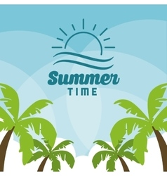 Summer design palm tree icon graphic vector image