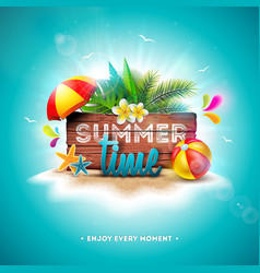 summer time holiday with vector image