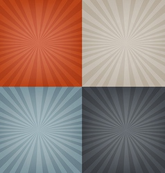 Sunburst Backgrounds Set vector image