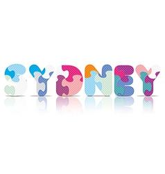 Sydney written with alphabet puzzle vector