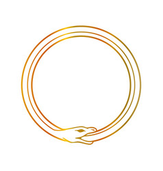 the symbol of ouroboros snake- the self ingesting vector image