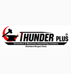 thunder plus logo vector image