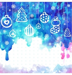 Watercolor Christmas can be used as a greeti vector
